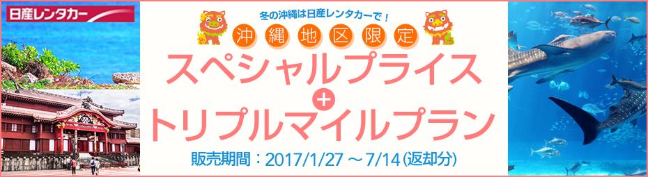 【沖縄地区限定】スペシャルプライス+トリプルマイルプラン(免責補償込み)!